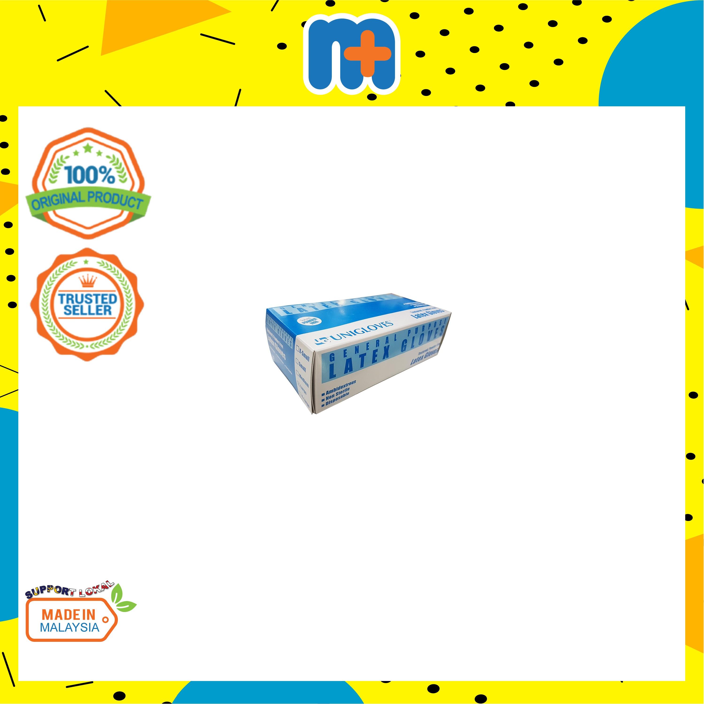 [MPLUS] LATEX GLOVES [Powder Free] Size M 100s