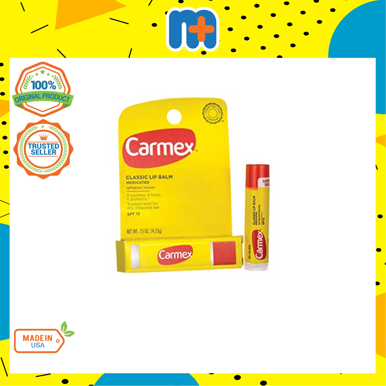 [MPLUS] CARMEX Classic Lip Balm Medicated Stick Spf 15 4.25g