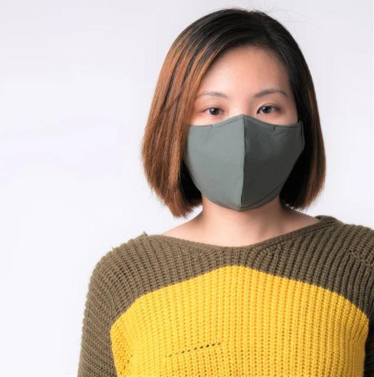 "[MPLUS] MASKARAID Olive Green Adults ""ULTRA MASKARAID"" Premium 3 Ply Reusable Fabric Mask"