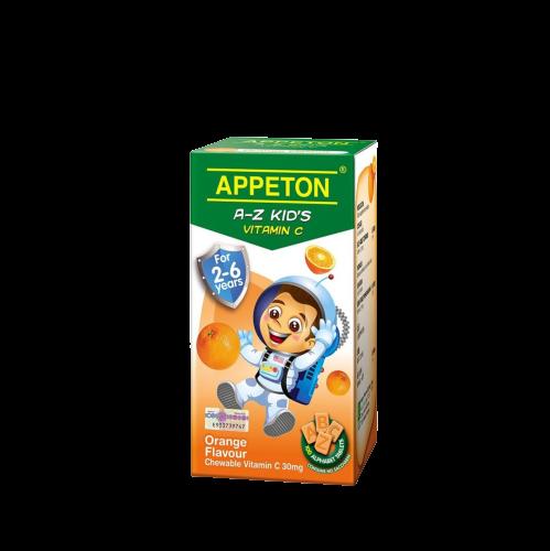 [MPLUS] APPETON A-Z Vitamin C Orange 30mg 100's