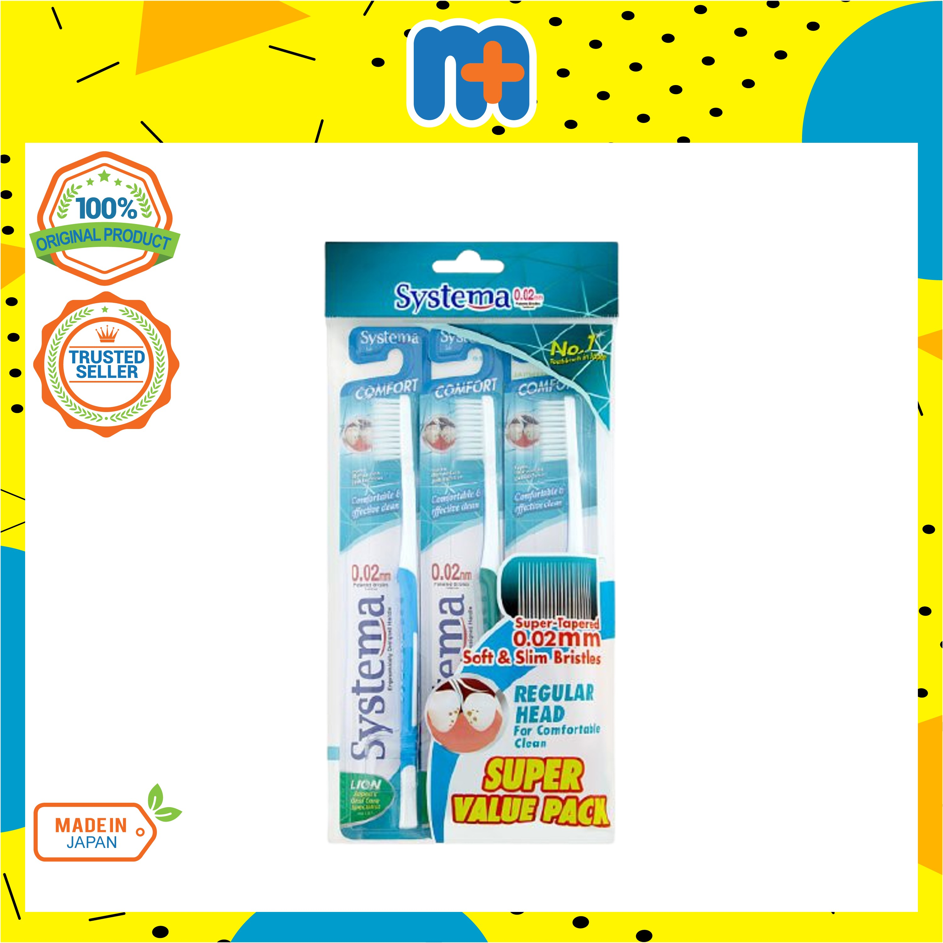 [MPLUS] SYSTEMA Toothbrush Comfort Value Pack 3s