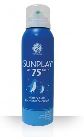 [MPLUS] Mentholatum Sunplay Waterly Cool Body Mist Spf75 150Ml