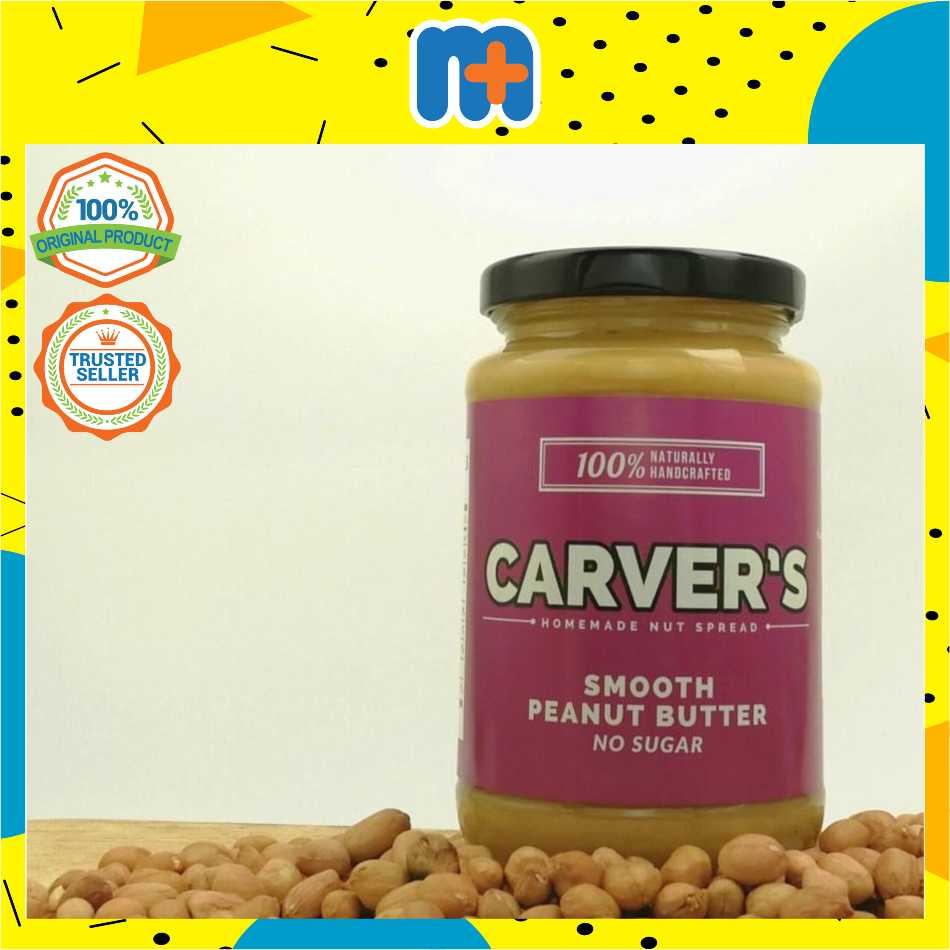 [MPLUS] Carver\'S Smooth Peanut Butter 360Gm
