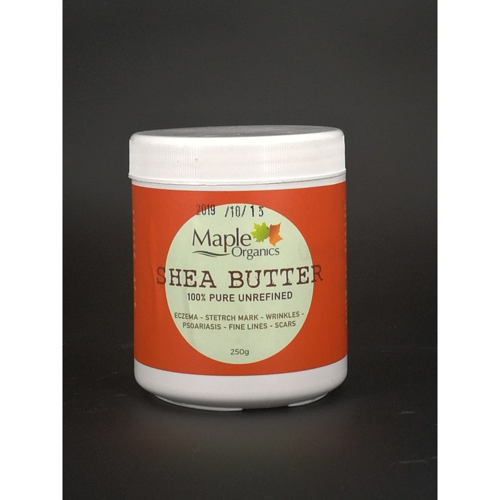[MPLUS] Maple Org 100% Raw Unrefined Org Shea Butter 250G