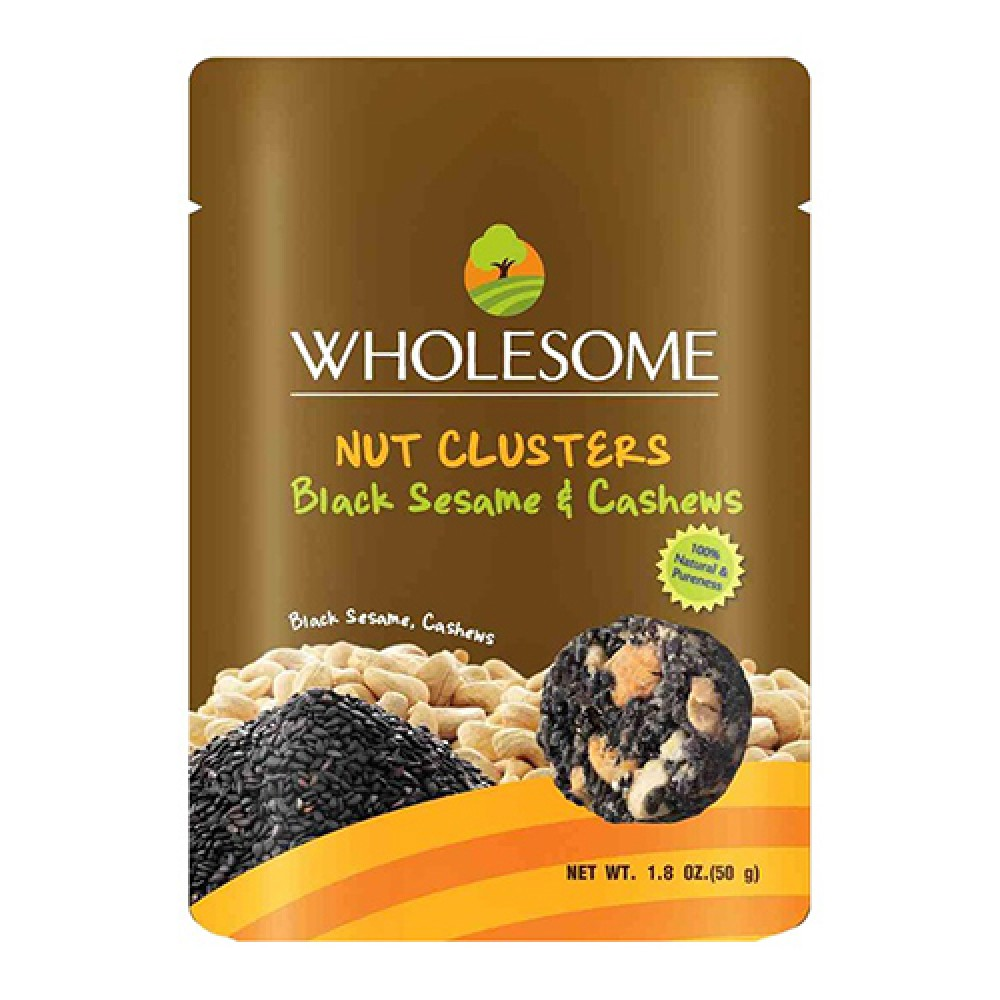 [MPLUS] Wholesome Nutcluster Black Sesame & Cashewnut 50G