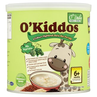 [MPLUS] O\'Kiddos Bario Rice Porridge-Mixed Vegetables 230G