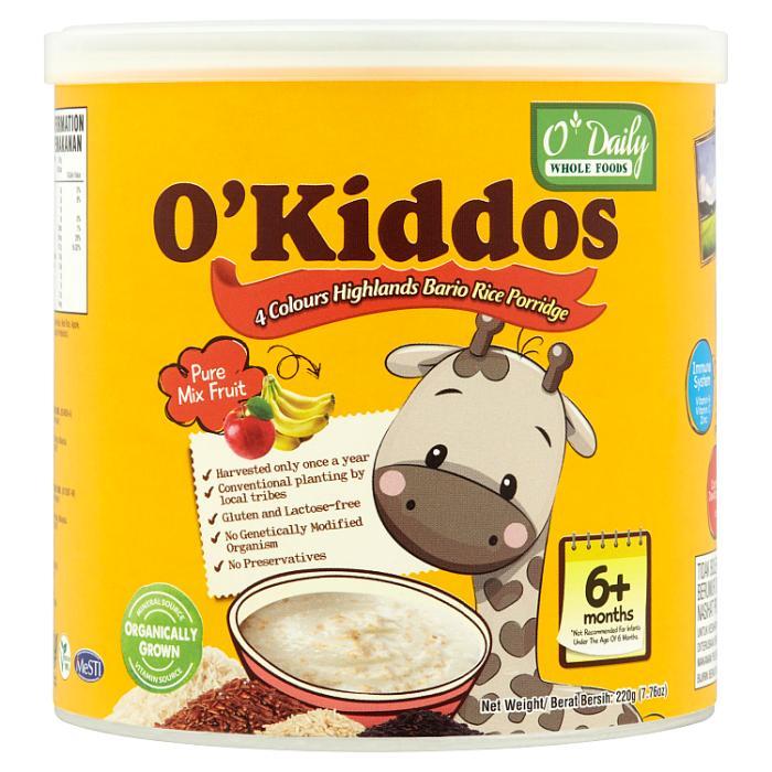 [MPLUS] O\'Kiddos Bario Rice Porridge-Mixed Fruits 230G