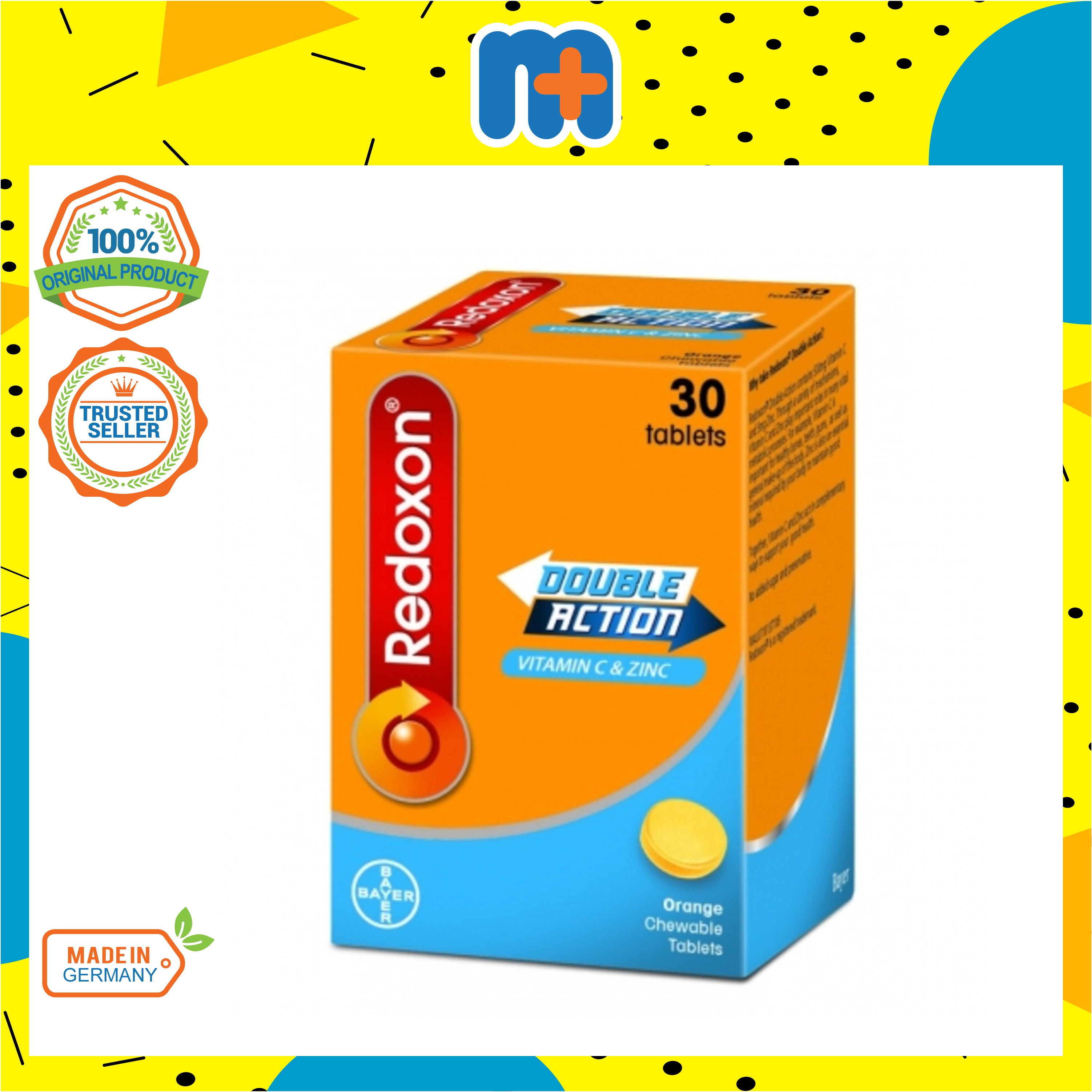 [MPLUS] REDOXON Double Action Chewable Tablet 500Mg 30S