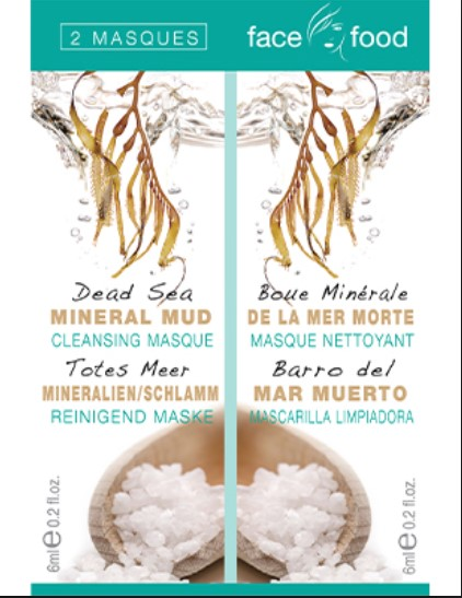 [MPLUS] Mj Face Food Dead Sea Mineral Mud Cleansing Mask 2S - 6Ml