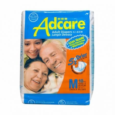 [MPLUS] Adcare Adult Leak Guard Diapers M10