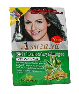 [MPLUS] Suzana Cosmetic Black Hair Darkening Shampoo 1S