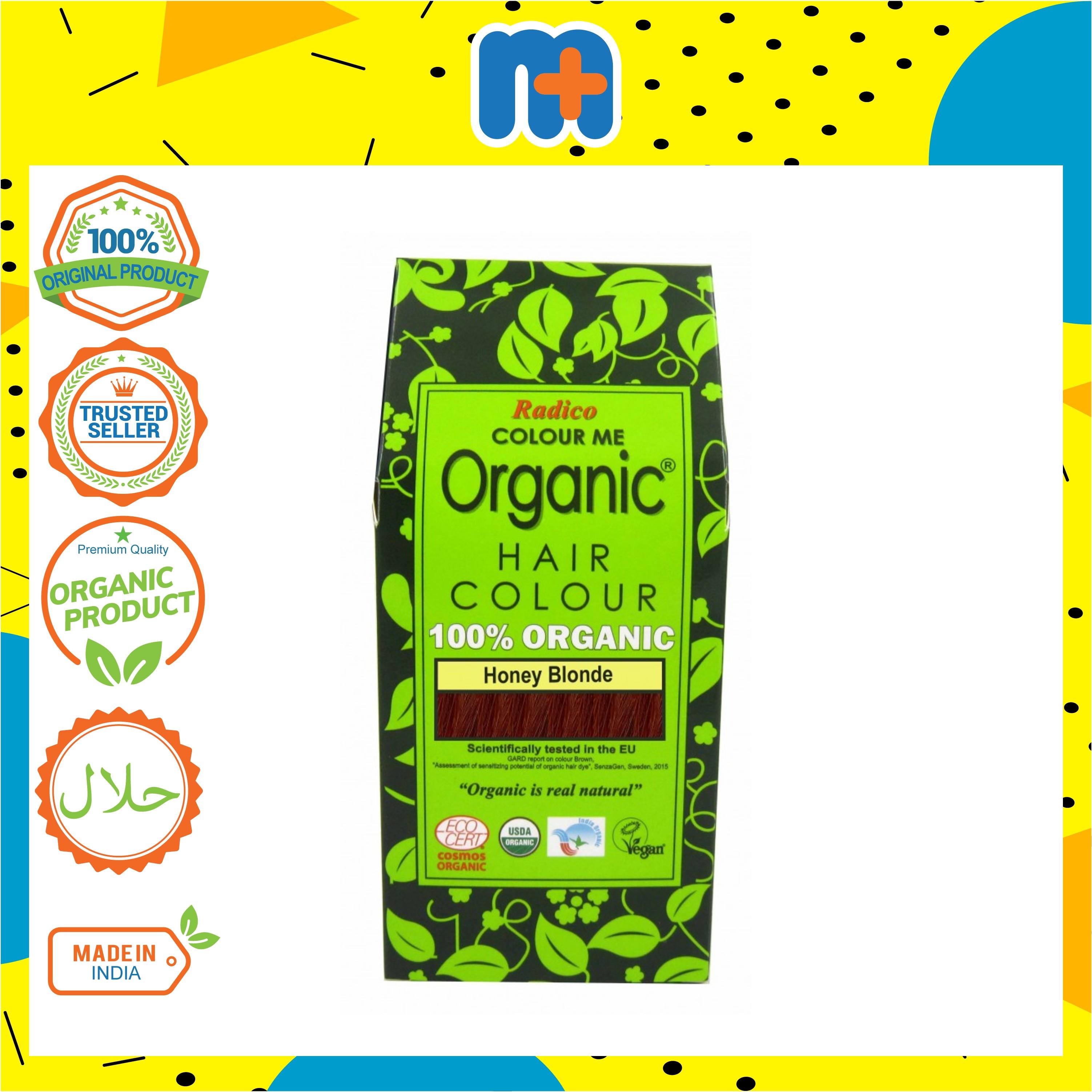 [MPLUS] RADICO 100% Organic Hair Colour Powder 100g (Honey Blonde)