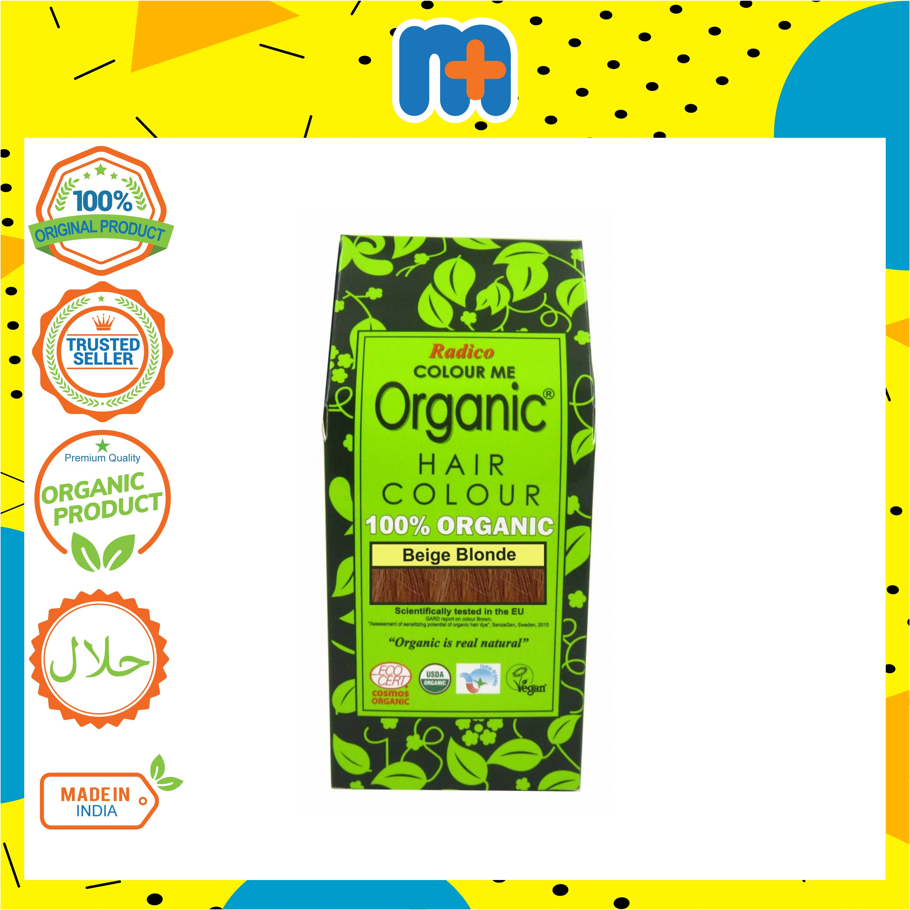 [MPLUS] RADICO 100% Organic Hair Colour Powder 100g (Beige Blonde)