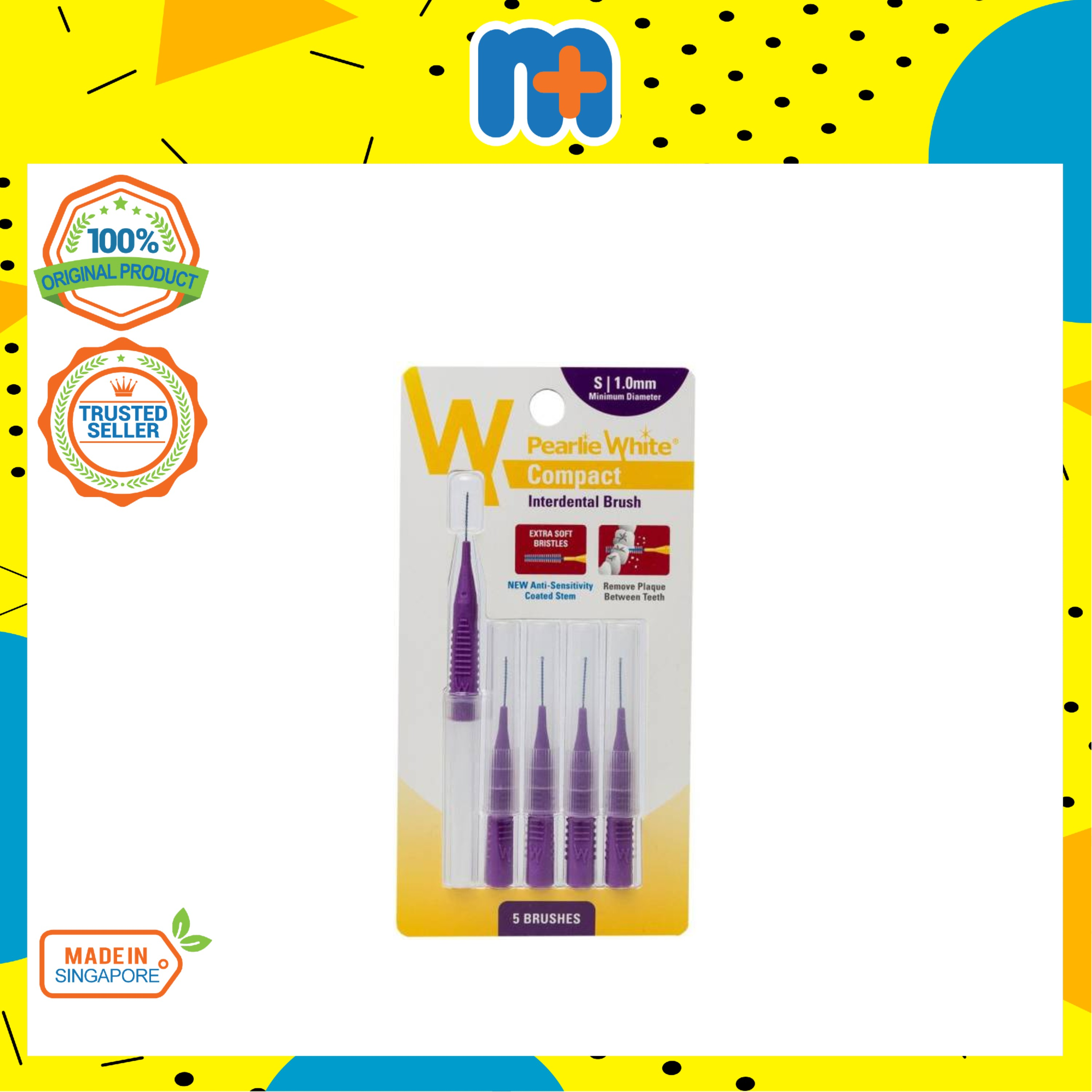 [MPLUS] PEARLIE WHITE Compact Interdental Brush S 1mm 5s