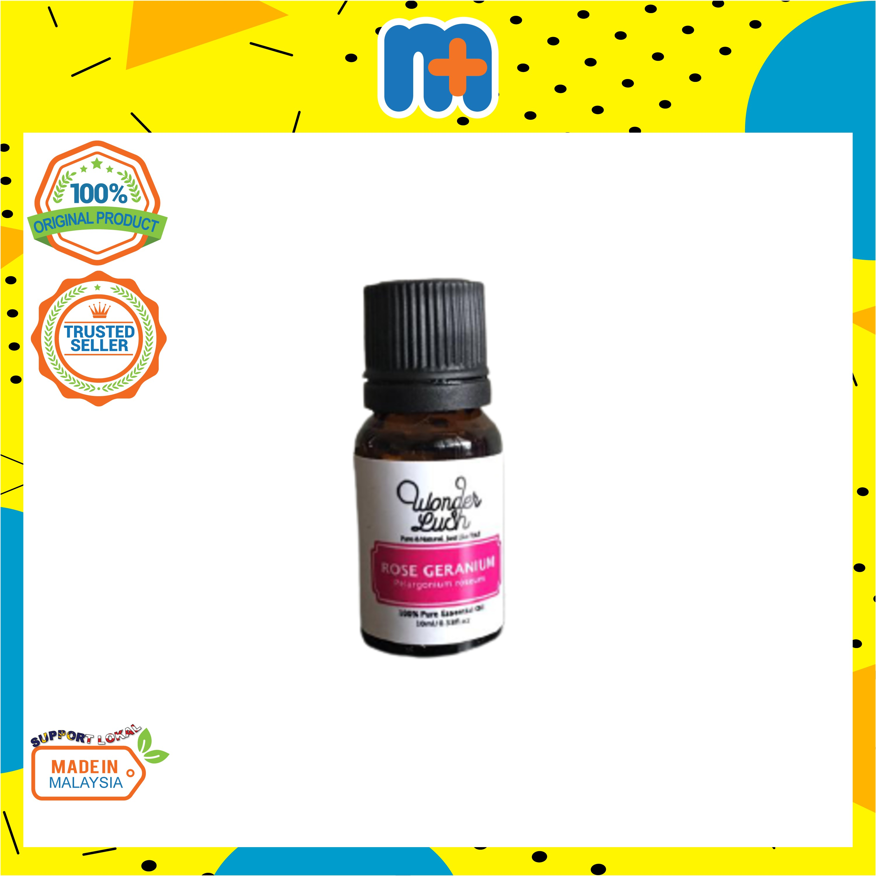 [MPLUS] WONDERLUSH Rose Geranium Essential Oil (Australian) 10ml