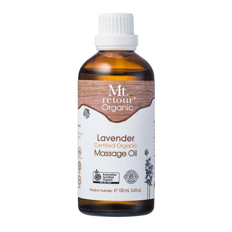 [MPLUS] MT RETOUR Certified Organic Lavender Massage Oil 100Ml Relaxing Massage Oil