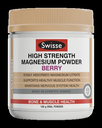 [MPLUS] Swisse High Strength Magnesium Powder 180G (Berry)